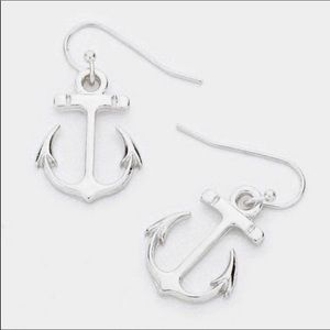 Anchor earrings silver ~nautical beach~ NWT